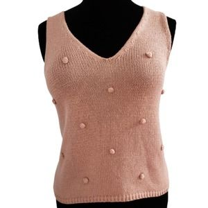 Blu Pepper Day to Day Knit Tank Top Sweater M